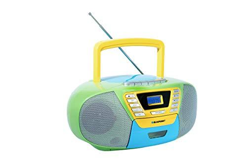 Blaupunkt B 120 MC tragbarer Kinder CD Player mit Bluetooth | Kassettenrekorder Kinder | Hörbuch Funktion | CD-Player mit USB | kleines CD-Radio | Aux In | PLL UKW Radio | Radio mit CD Spieler | bunt