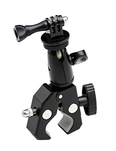EXSHOW Fahrrad-Kamera-Halterung, 1/4-Zoll-20-Gang-UNC-Gewinde, Motorrad-Metall-Halterung, für GoPro Hero 5, 4, 3+, 3, 2, 1, Canon, Nikon, Sony und andere Kameras