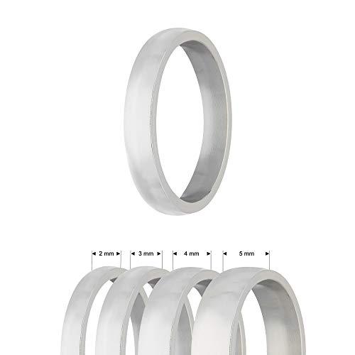 Treuheld® | Ring aus Edelstahl | Silber | Ringgröße 62 | Breite 5mm | Damen & Herren | Matt/Frosted | Freundschaftsring Verlobungsring Ehering