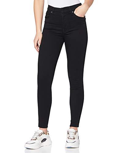 Levi's Damen Mile High Super Skinny Jeans, Black Galaxy, 27W / 30L