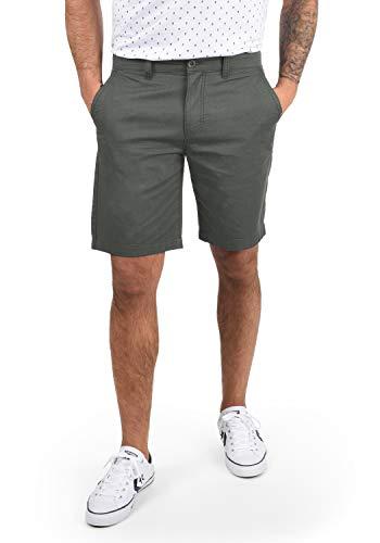 !Solid Thement Herren Chino Shorts Bermuda Kurze Hose Aus 100% Baumwolle Regular Fit, Größe:L, Farbe:Dark Grey (2890)