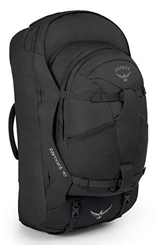 Osprey Farpoint 70 Reisetasche für Männer, mit abnehmbarem 13-Liter-Tagesrucksack - Volcanic Grey (M/L)