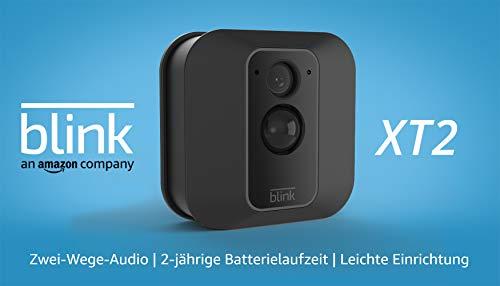 Blink XT2 (2. Gen.) – Smarte Sicherheitskamera | Für den Außen- und Innenbereich mit Cloud-Speicher, Zwei-Wege-Audio und 2-jähriger Batterielaufzeit | System mit einer Kamera