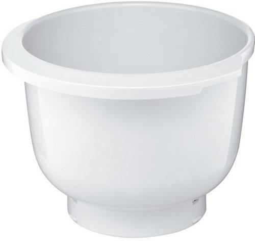 Bosch Kunststoff-Rührschüssel MUZ5KR1, 3,9 Liter, max. Teigmenge 2,7 kg, spülmaschinengeeignet, weiß, passend für MUM 5 Küchenmaschine