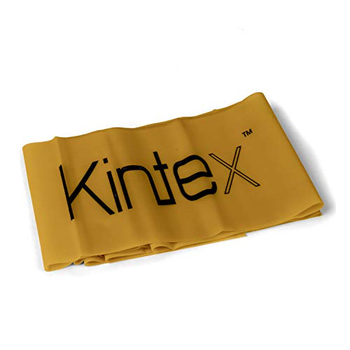 Kintex Gymnastikband Latexband 2.5m x 15cm Fitnessband, Gold