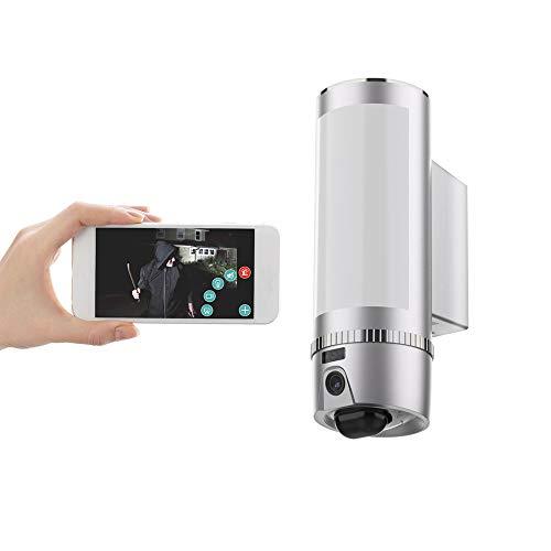FREECAM WLAN Glühbirne Sicherheitskamera Außenleuchte Mit Bewegungsmelder Integrierte Beleuchtung,Floodlight Cam,Eingebaute 16 GB SD-Karte (L900SL)