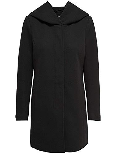 ONLY Damen Mantel Jacke SEDONA LIGHT COAT Parka Übergang Frühling (M, schwarz (Black))