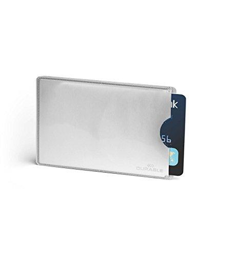 Durable 890023 Kreditkartenhülle (mit Rfid Schutz, Beutel à10 Kartenhüllen) silber