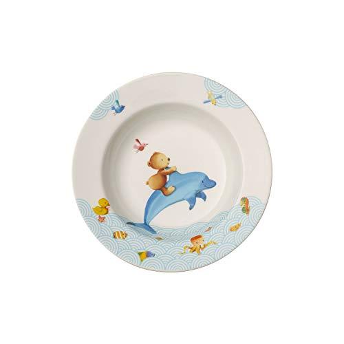 Villeroy & Boch 14-8664-2751 Happy as a Bear Kinderteller, Premium Porcelain