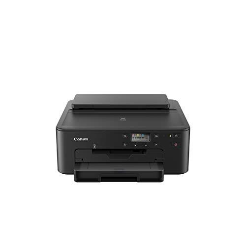 Canon PIXMA TS705 Drucker Tintenstrahl DIN A4 (WLAN, LAN, 5 separate Tinten, automatischer Duplexdruck, 2 Papierzuführungen, Papierkassette 250 Blatt, Apple AirPrint), schwarz