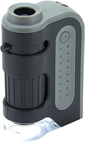 Extrem leistungsstarkes Taschenmikroskop Carson 60-120x MicroBrite Plus mit LED-Beleuchtung
