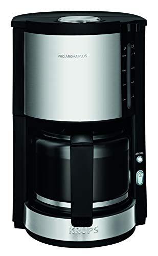 Krups Proaroma Plus Filterkaffeemaschine KM3210   10 Tassen   1100 Watt   Schwarz mit Edelstahlapplikationen