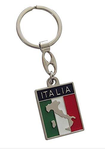 Schlüsselanhänger / Schmuck für Tasche, Flagge und Karte von Italien, Aufschrift Italia