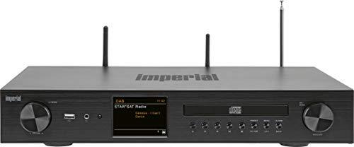 Imperial DABMAN i550 CD HiFi-Verstärker Internetradio (DAB+/DAB/UKW/WLAN/LAN, Bluetooth, Streaming Dienste, CD-Player, Stereo Endstufe, AV Receiver), schwarz, HiFi breite, 22-252-00