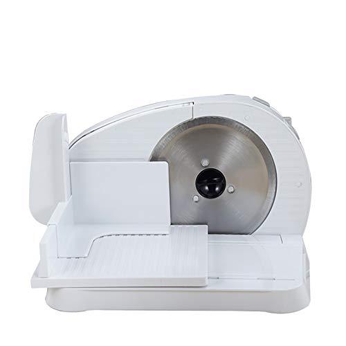 Brotschneidemaschine Klappbar Elektrisch Klein Aufschnittmaschinen Universalwellenschliff, Allesschneider Schnittstärke 0-15 Mm, Weiß