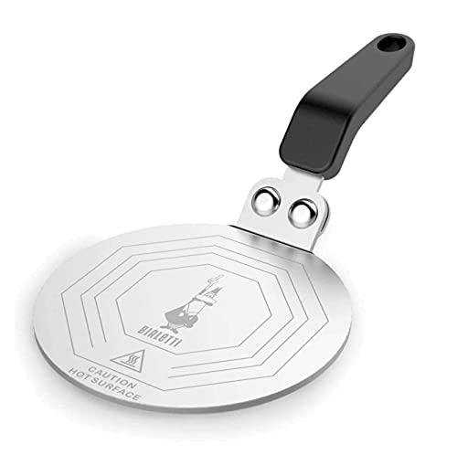 Bialetti DCDESIGN08 Moka Induktionskochteller Adapter für die Verwendung von Kaffeekannen und Kochgeschirr auf Induktionskochfelder, Stahl