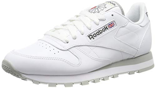Reebok Herren Classic Lthr 2214 Sneaker, Weiß (Int-White/Lt. Grey), 43 EU
