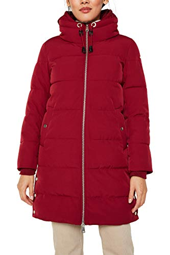 ESPRIT Damen 119EE1G014 Mantel, Rot (Dark Red 610), X-Large (Herstellergröße: XL)