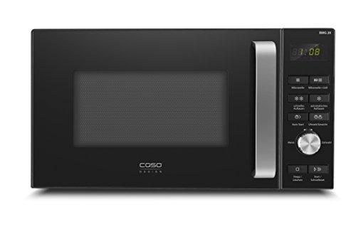 CASO   BMG20 2-in-1 Mikrowelle mit Grill   Tastenbeschriftung auf deutsch, 800 W, Grill 1000 W, 20 L, einfache Bedienung, 9 Auto-Programme, schwarz