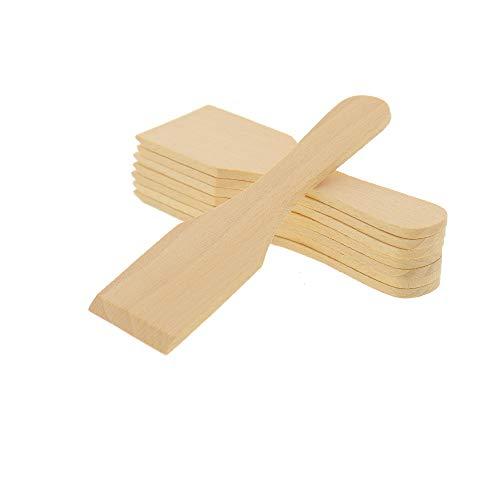 8X HOFMEISTER Raclette-Schaber aus Holz, 13 cm, schont beschichtete Raclette-Pfännchen, hitzebeständiger Raclette-Spachtel aus Europa, stabiles Raclette Zubehör aus heimischer Buche