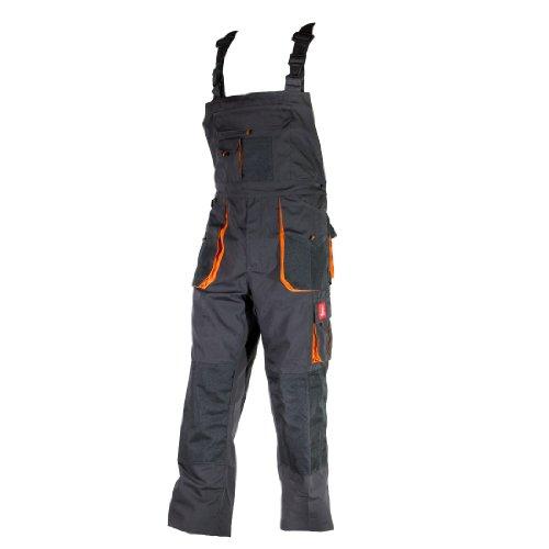 Urgent Latzhose Schutzhose Arbeitskleidung Arbeitshose Farbeauswahl URG-A Grau 48, Graphit/Orange