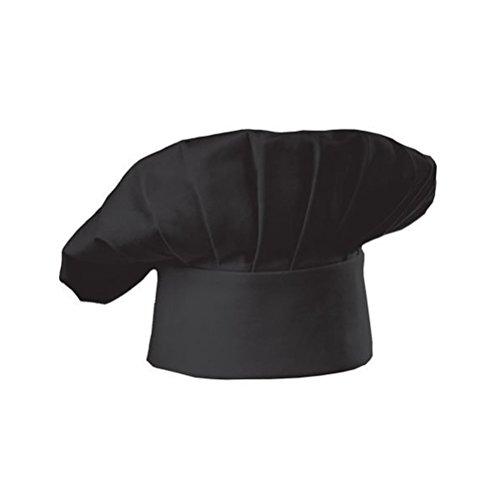 PIXNOR Kochmütze Küche Restaurant Cook Cap Mütze für Restaurant Kochen BBQ - Pilz-Stil (schwarz)