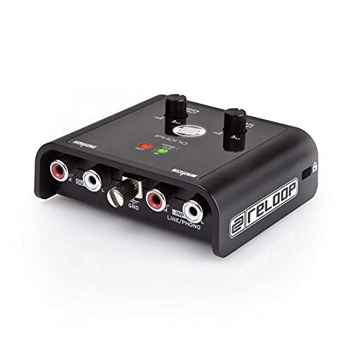 Reloop iPhono 2 – Phono/Line USB-Recording Interface und Soundkarte - Digitalisierung und Archivierung von Vinylplatten, Kassetten, Mini-Discs oder Live-Sets (mit jeder gängigen DJ-Software), schwarz