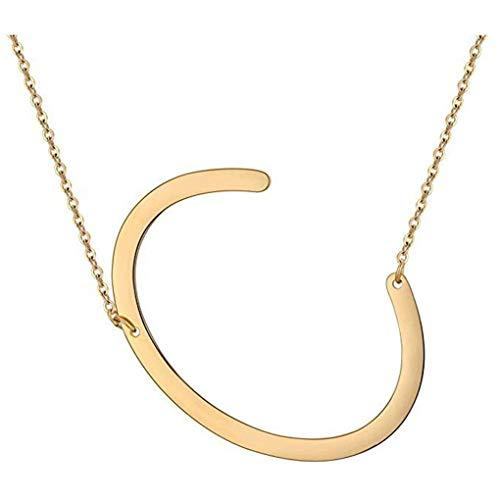 Dorical Buchstabe Halsketten,A-Z Halskette, Personalisierte Gold Herz Anhänger Buchstabe Kette Alphabet,Anhänger Halsketten Frauen Mädchen Kindergeschenke Sonderverkauf(01-C,One Size)