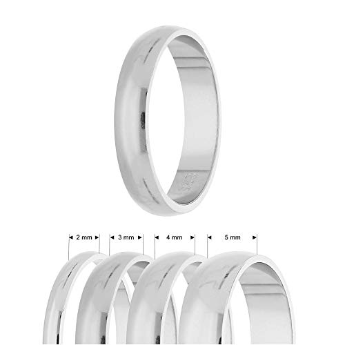 Treuheld® | Ring aus 925 Sterling Silber | Ringgröße 48 | Breite 2mm | Damen & Herren | glänzend | Freundschaftsring, Verlobungsring, Ehering