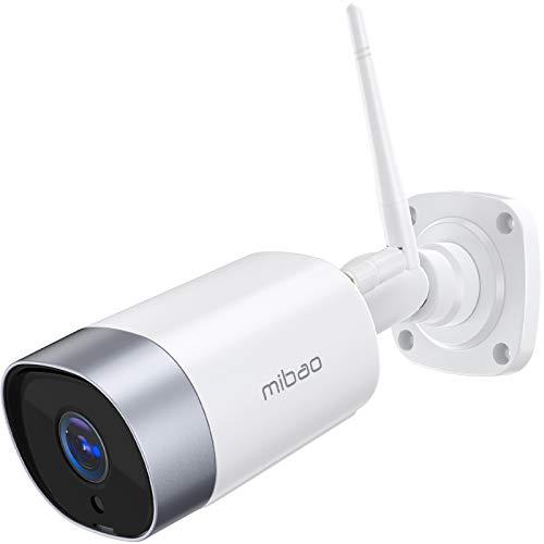 mibao Überwachungskamera Aussen, WLAN IP Kamera 1080P WiFi Kamera mit Nachtsicht, IP66 wasserdichte, Zwei Wege Audio, Fernzugriff und Bewegungserkennung, Kompatibel mit IOS/Android