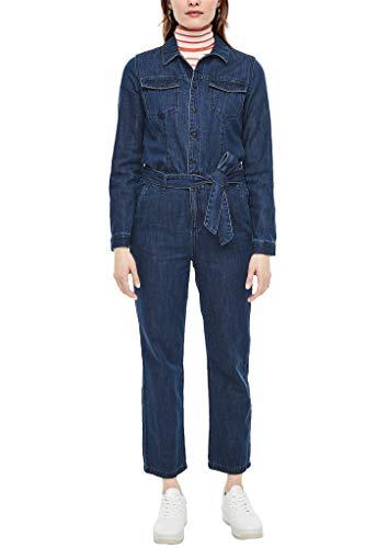 s.Oliver Damen Jeans-Overall mit Waschung dark blue 36