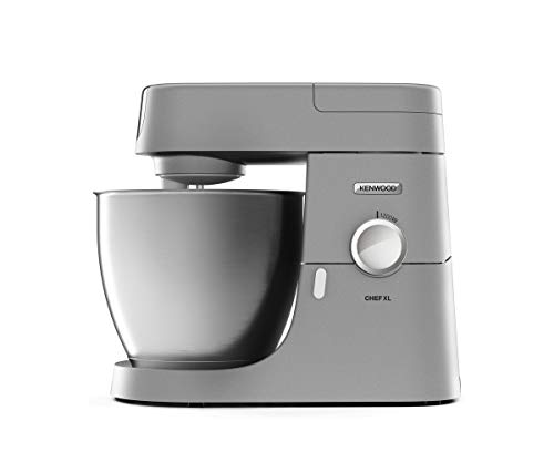 Kenwood Chef XL KVL4100S – Küchenmaschine mit großer 6,7 l Edelstahl-Rührschüssel, multifunktionaler Küchenhelfer, 1200 W, inkl. 3-teiligem Patisserie-Set, silber