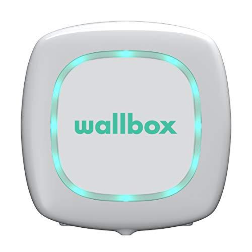 Wallbox PULSAR Ladegerät für Elektroautos E-Autos EV-Ladestation (EV Charging Station). Typ 2. Maximale Leistung 22 kW. (Weiß, Kabel 5 Meter)