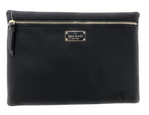 Kate Spade New York Wilson Road Large Nylon Clutch Cosmetic Case Black