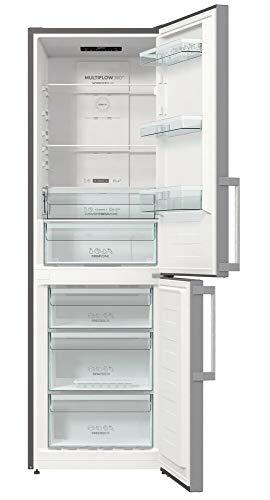 Gorenje NRK 6192 ES5F Kühl-Gefrierkombination/185 cm/302 l/No Frost Plus/Multi Airflow System/Silber, metallisch