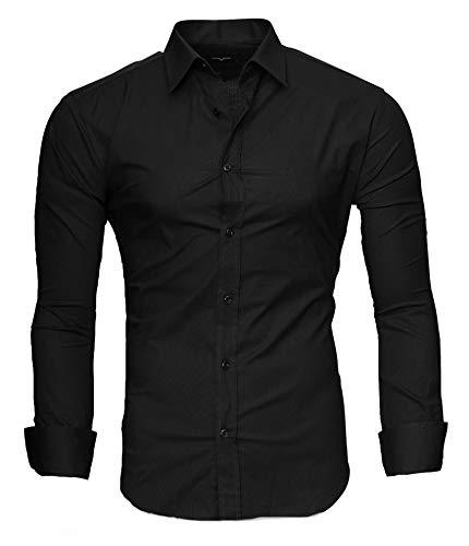Kayhan Herren Hemd, TwoFace als Uni Schwarz XL