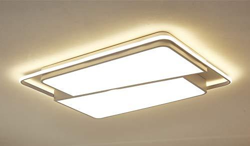 Eurotondisplay LED Deckenleuchte 8992-95x65x10 mit Fernbedienung Lichtfarbe/Helligkeit Innen einstellbar Rahmen 4500 Kelvin A+ (8992-95x65x10)