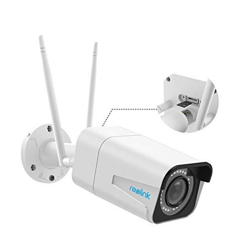 Reolink 5MP WLAN Überwachungskamera mit 4X optischem Zoom für Außen, 2,4Ghz und 5Ghz WiFi IP Kamera mit Audio, IR Nachtsicht, SD Kartenslot und Bewegungsmelder, RLC-511W