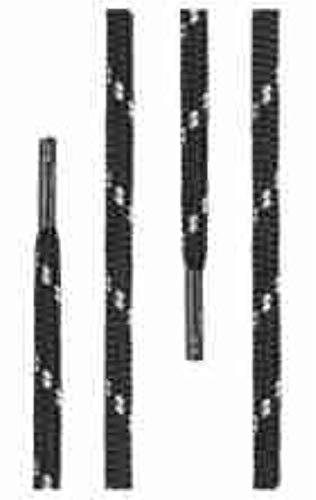 Di Ficchiano runde SCHNÜRSENKEL für Arbeitsschuhe und Trekkingschuhe - sehr reißfest - ø ca. 4,5 mm, Polyester - SP-01-black/grey-130