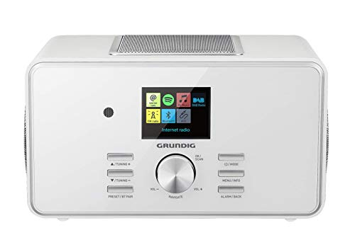 """Grundig DTR 6000 2.1 BT DAB+ WEB """"All-in-one""""-Internetradio mit Bluetooth, Multiroom und Empfang Weiß"""