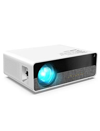 Beamer, ELEPHAS [Native 1080P] Full HD 7000 Lumen 300' LCD Projektor, für Film Unterhaltung Spiele, unterstützt 2K HDMI VGA AV USB Micro SD, Weiß.