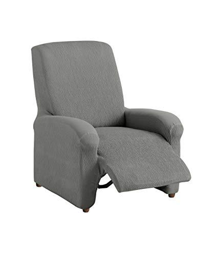 Textil-home Stretchhusse für Relaxsessel Komplett TEIDE, 1 Sitzer - 70 a 100Cm. Farbe Grey