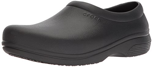 Crocs On The Clock Work SlipOn, Unisex - Erwachsene Slip-on, Schwarz (Black), 43/44 EU