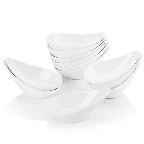 MALACASA, Serie Ramekin.Dish, 12-teilig Set 4,5'/11,5cm/75ml SUPER Mini Dessertschale Dessertschälchen Porzellan Snackschale Muffin Schälchen Dekoschale