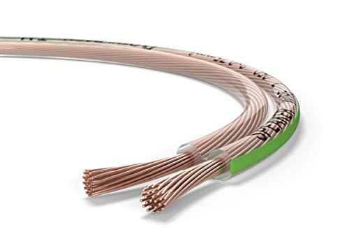 Oehlbach Speaker Wire SP-7 - Stereo HI-FI Lautsprecherkabel - Boxenkabel mit OFC (sauerstofffreies Kupfer) 2 x 0,75 mm² - Mini Spule Lautsprecher Kabel - Glasklar 10 Meter