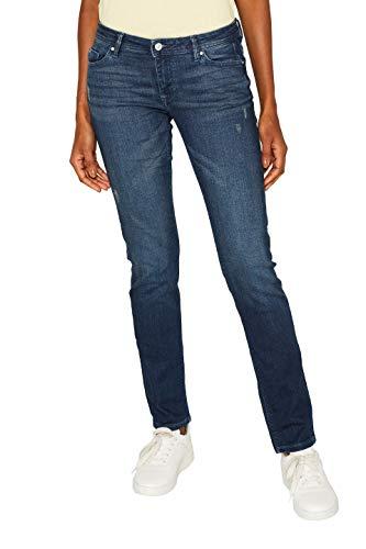 edc by ESPRIT Damen 999Cc1B807 Slim Jeans, Blau (Blue Dark WASH 901), W31/L32 (Herstellergröße:31/32)