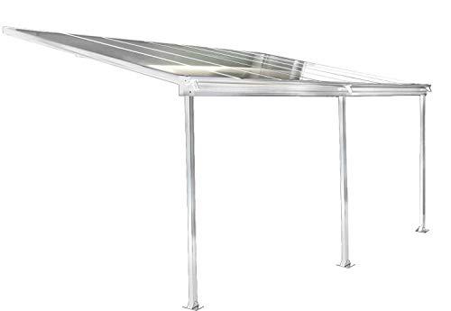 osoltus Aluminium Terrassenüberdachung Terrassendach Veranda Weiss