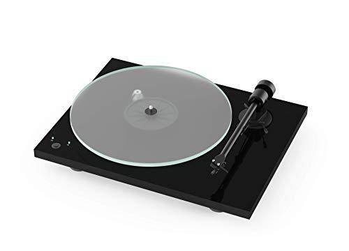 Pro-Ject T1 Phono SB, Audiophiler Einstiegsplattenspieler der neuen Generation mit Phono-Vorverstärker und elektronischer Geschwindigkeitsumschaltung (Piano Schwarz)