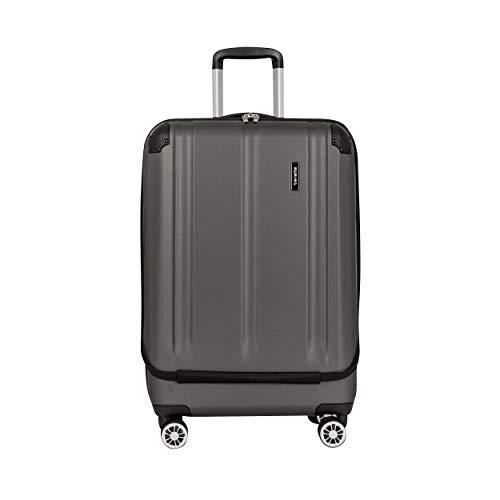"""Travelite Leicht, flexibel, sicher: """"City""""-Hartschalenkoffer für Urlaub und Business (auch mit Vortasche) Koffer, 68 cm, 70 Liter, Anthrazit"""