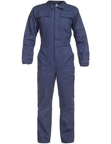 BWOLF ANAX Arbeitsoverall Herren Overall Herren Arbeitskleidung 100% Baumwolle Arbeitsoveralls mit 5 Taschen (Blau, M)